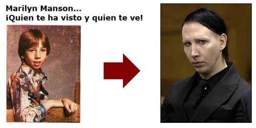 Marilyn Manson, de niño y ahora