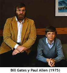 Bill Gates y Paul Allen en 1975