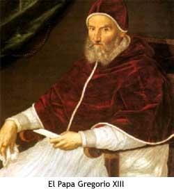 El Papa Gregorio XIII