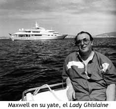 Maxwell a bordo del Lady Ghislaine