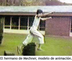 El hermano de Jordan Mechner, actuando como modelo para la animaciones de