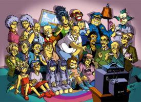 Los Simpson y Futurama en versión Anime