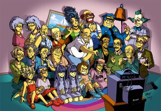 Los Simpson en versión Anime