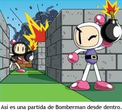 Bomberman - Ilustración que representa una partida