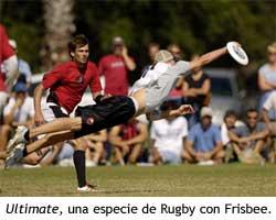 Ultimate, un deporte inspirado en el Rugby que usa discos Frisbee