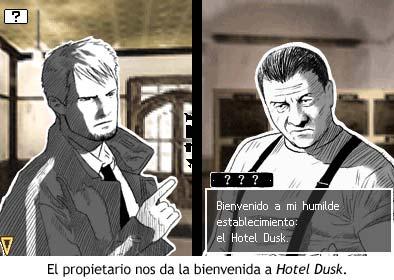 El propietario nos da la bienvenida a Hotel Dusk