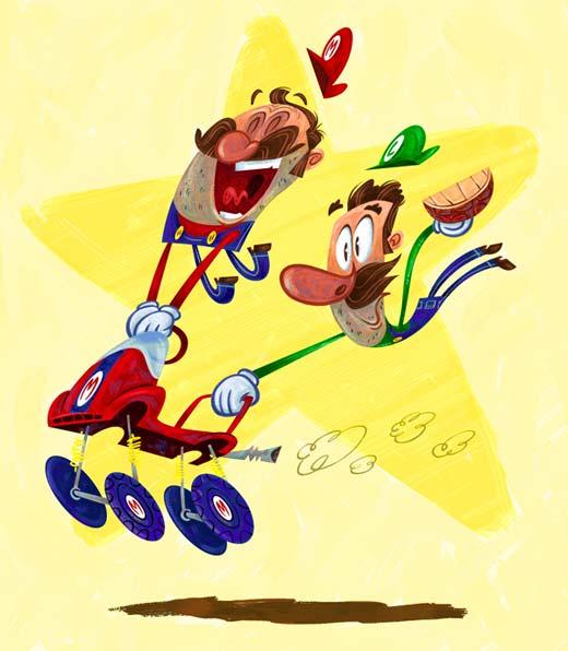 Mario y Luigi vistos por John Kricfalusi