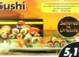 Sushi en el LIDL
