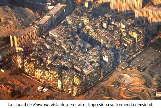 Foto aérea de Kowloon