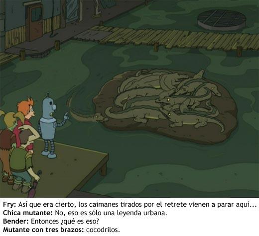 Futurama - Cocodrilos en las alcantarillas