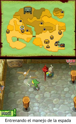 Zelda Phantom Hourglass - Entrenando el manejo de la espada