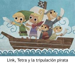 Zelda Phantom Hourglass - Link, Tetra y la tripulación pirata