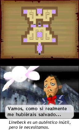Zelda Phantom Hourglass - Linebeck es un auténtico inútil, pero le necesitamos.