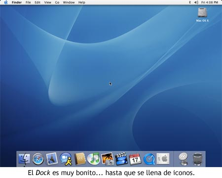 Mac OS X 10.4 Tiger - Dock