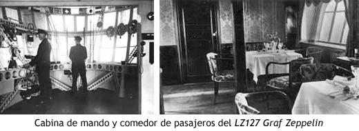 Cabina de mando y comedor de pasajeros del LZ127 Graf Zeppelin