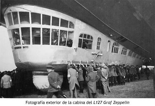 Fotografía exterior de la cabina del L127 Graf Zeppelin