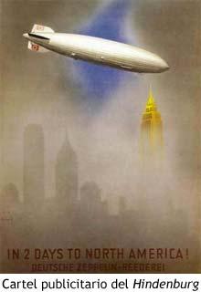Cartel publicitario del Hindenburg