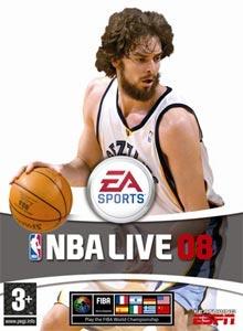 NBA Live 08 - Carátula