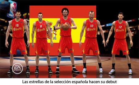 NBA Live 08 - La selección española