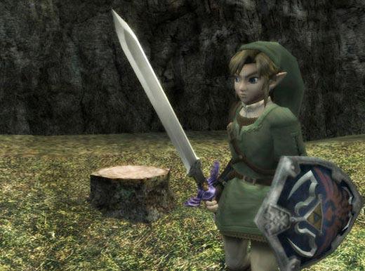 Nuevo Zelda para Wii - Link con la espada maestra