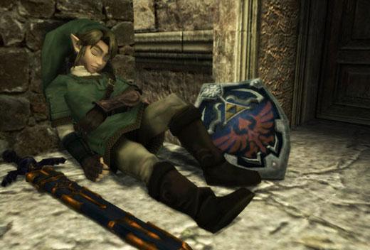 Nuevo Zelda para Wii - Link descansando