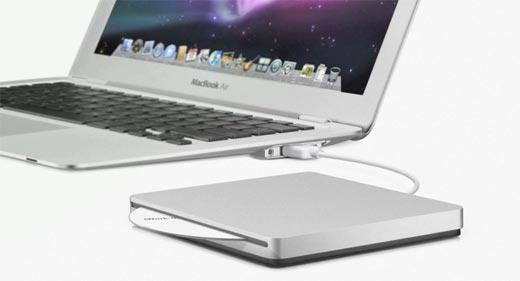 MacBook Air - Lector de DVD externo. En cuanto al resto de características