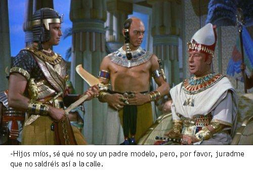 Los Diez Mandamientos - Moisés y Ramses