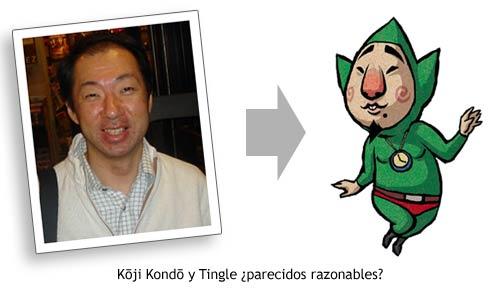 K?ji Kond? y Tingle - ¿Parecidos razonables?