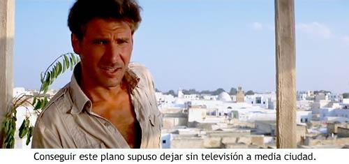 Indiana Jones en Busca del Arca Perdida - Las azoteas de El Cairo sin antenas de televisión