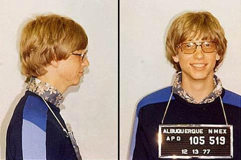 Bill Gates detenido por exceso de velocidad en 1977
