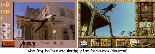 Los Justicieros - Comparativa con Mad Dog McCree