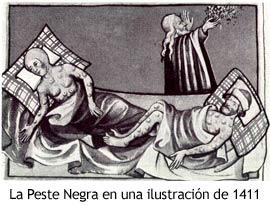 Peste Negra - Ilustración de 1411