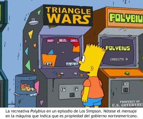 Polybius - La máquina en un episodio de Los Simpson