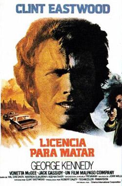 Clint Eastwood en Licencia para matar - Carátula
