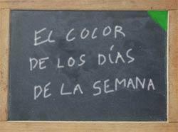 El color de los días de la semana