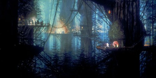 La tregua de Bakura - El poblado ewok
