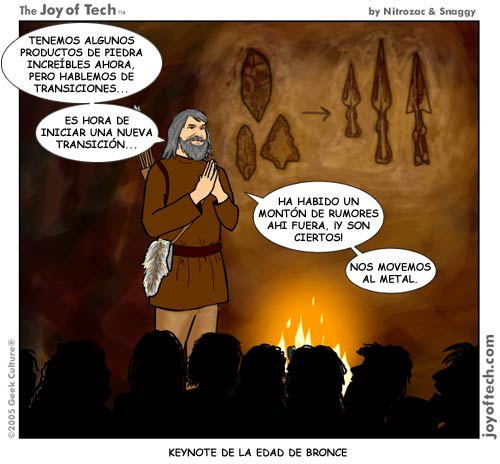 Keynote de Steve Jobs en la Prehistoria