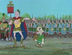 Las doce pruebas - Julio César y Caius Pupus