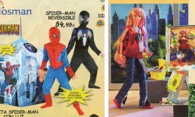 Catálogo de juguetes - Disfraz de Spider-Man e Irene ejecutiva