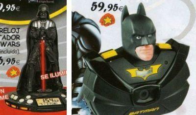 Catálogo de juguetes - Despertador de Vader y Cámara Batman