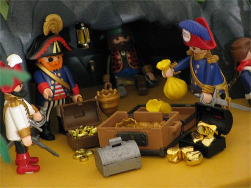 El mundo Playmobil - Reunión de piratas en la cueva del tesoro