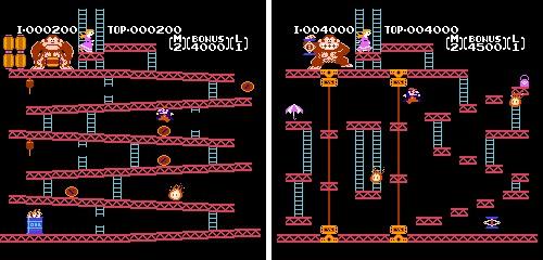 Pauline - Donkey Kong, Mario al rescate