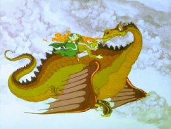 El vuelo de los dragones - A lomos de Smrgol