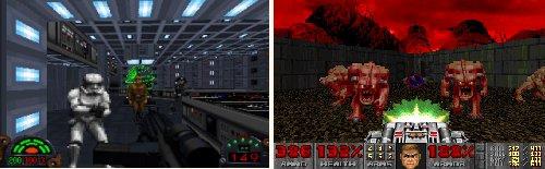 Star Wars: Dark Forces - Comparativa con 'Doom'