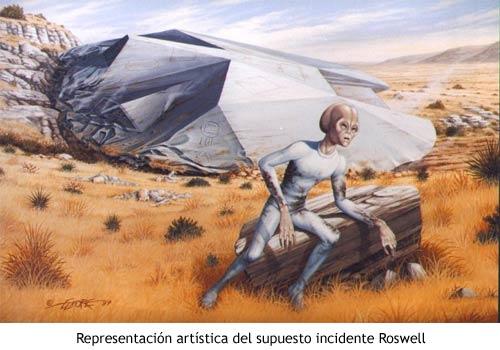 Incidente Roswell - Ilustración artística
