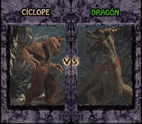 Simbad y la princesa - Cíclope vs. Dragón