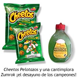 Matutano - Cheetos Pelotazos y cantimplora Zumrok