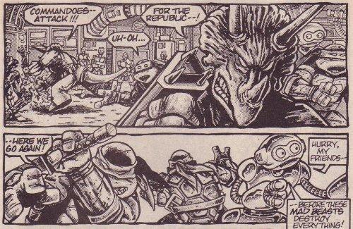 Las Tortugas Ninja de Eastman y Laird: El Fugitoide - Triceratons