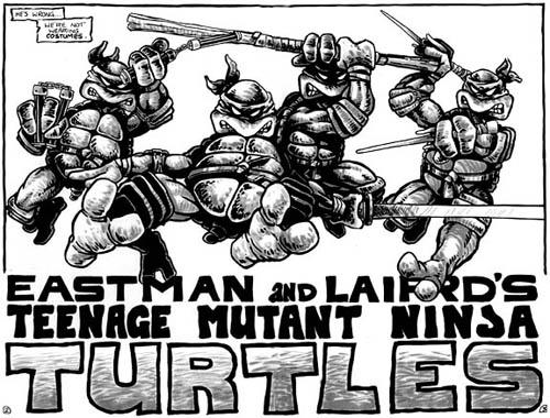 Las Tortugas Ninja de Eastman y Laird: Origen - Las tortugas