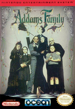 The Addams Family NES - Carátula